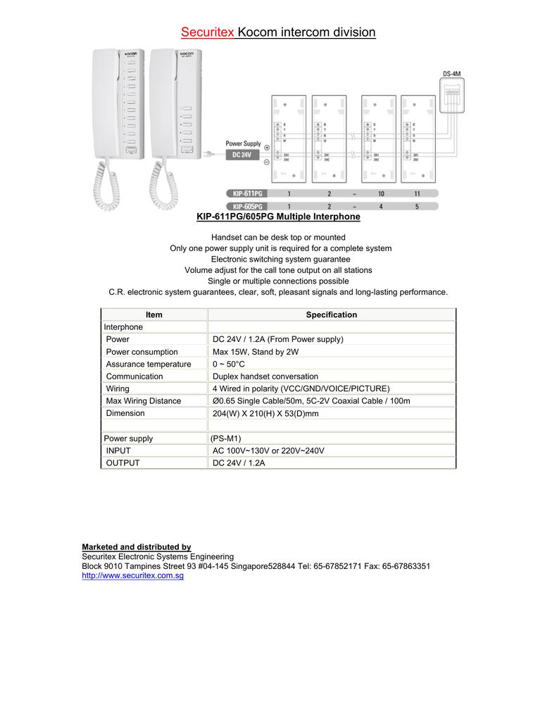 on 4 wire intercom system wiring diagram