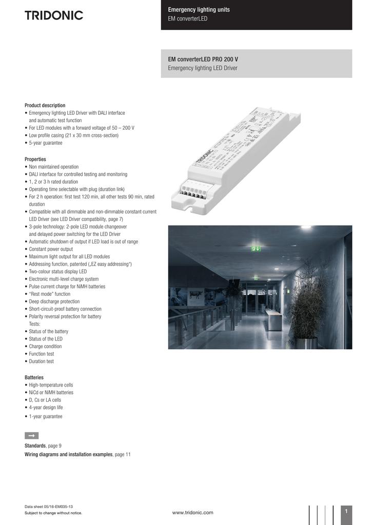 Enjoyable Em Converterled Pro 200V En Manualzz Com Wiring Digital Resources Kookcompassionincorg