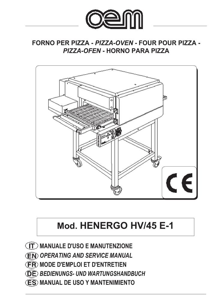 OEM HENERGO HV 45 Pizzaofen | manualzz.com