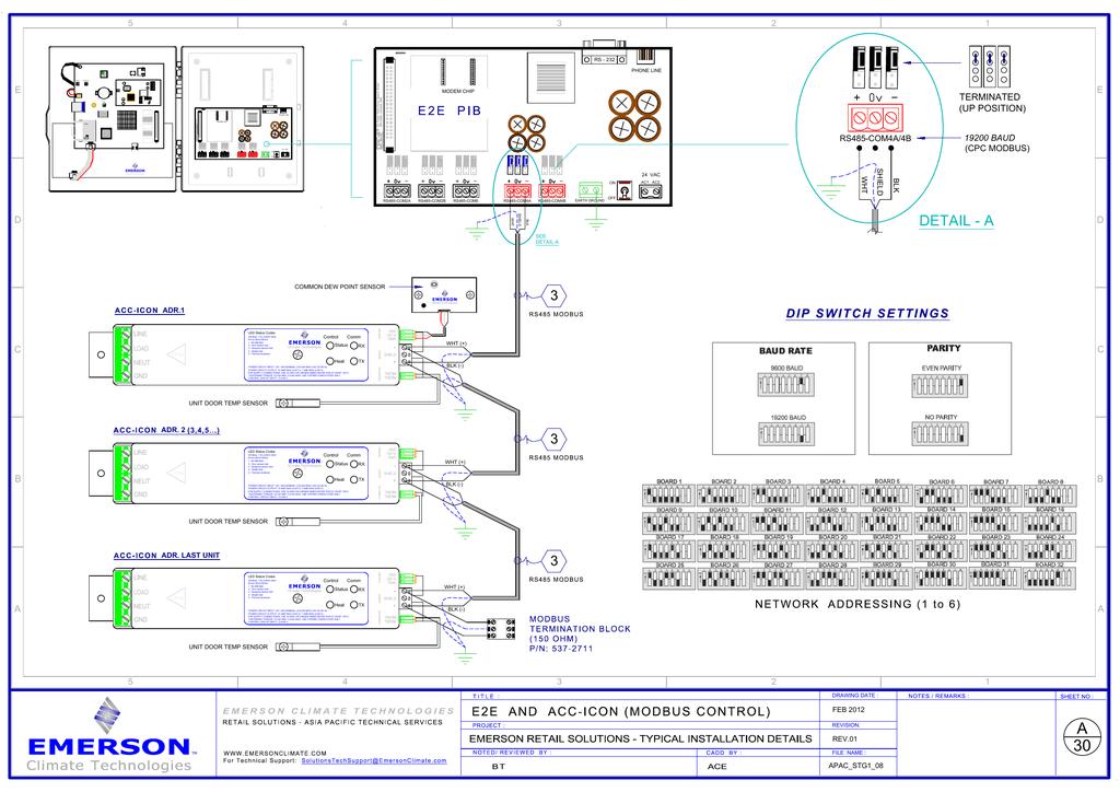 Emerson ACC E2 System Network Wiring Diagram | manualzz.com on