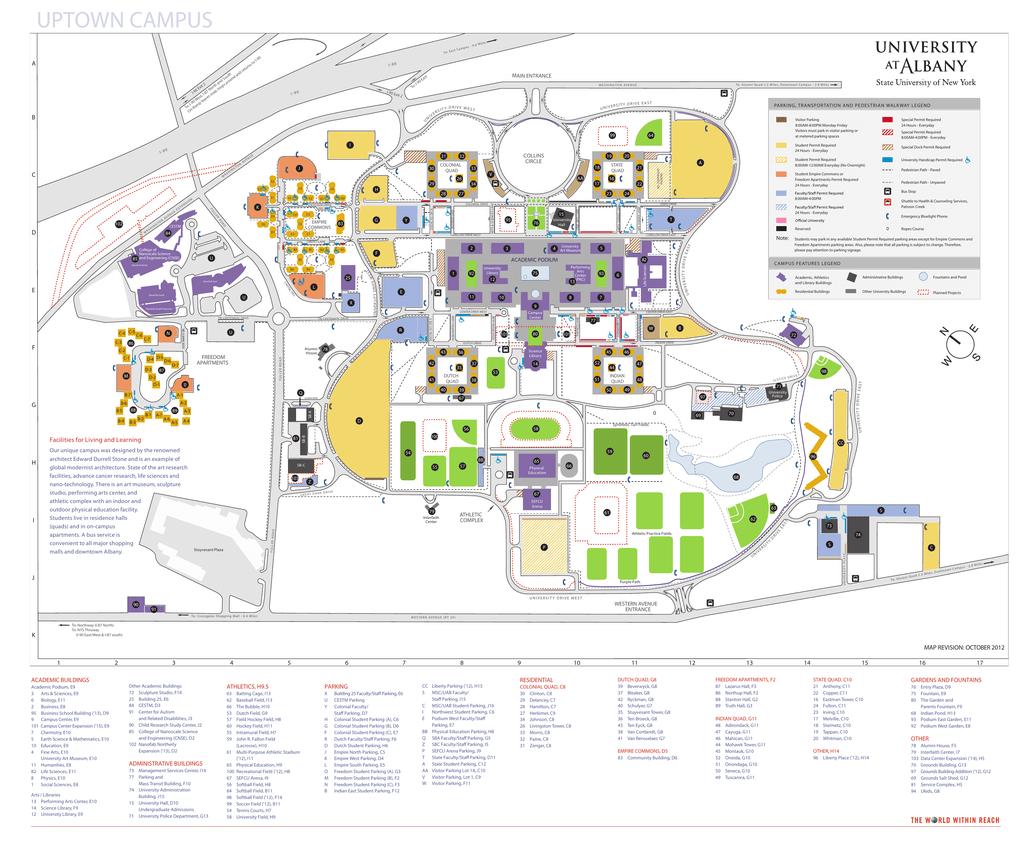 ualbany campus map | manualzz.com on