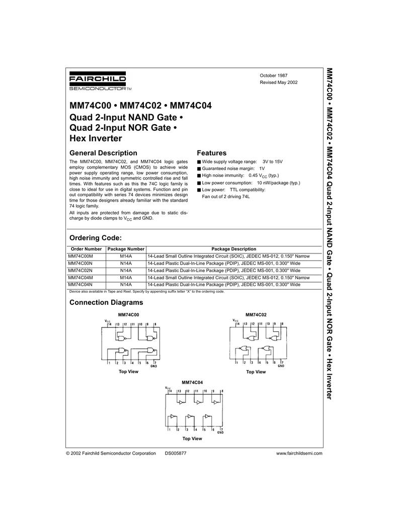Mm74c00n datasheet.