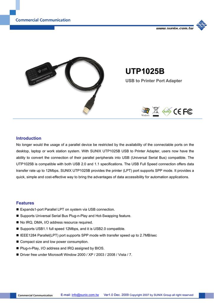 UTP1025B DRIVER FOR WINDOWS MAC