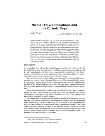 NikolaTeslasRadiationsAndCosmicRays.pdf | Manualzz