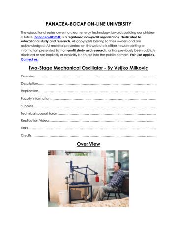Veljko Milkovic Two Stage Mechanical Oscillator.pdf   Manualzz