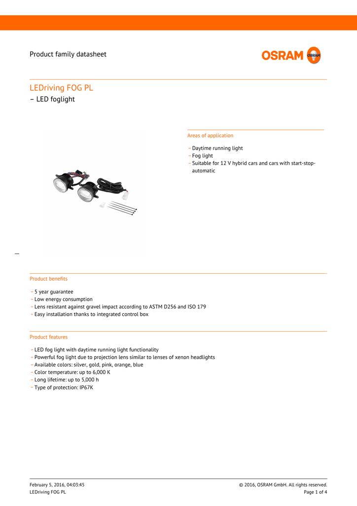 OSLEDFOG201--tehniline-info.pdf | Manualzz