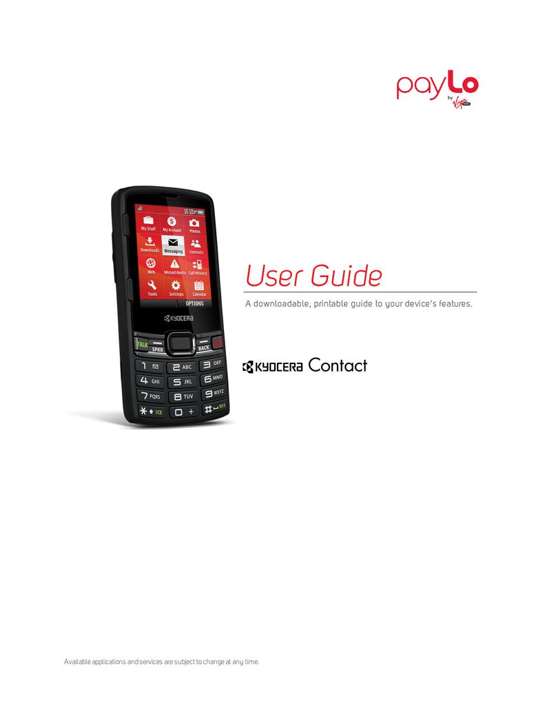 Download Kyocera Contact S3150 Manual PDF | manualzz com