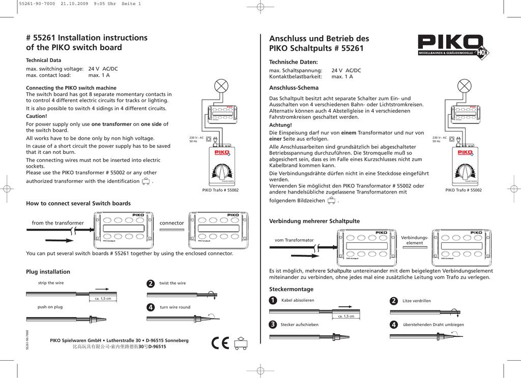 Schaltpult Piko 55261