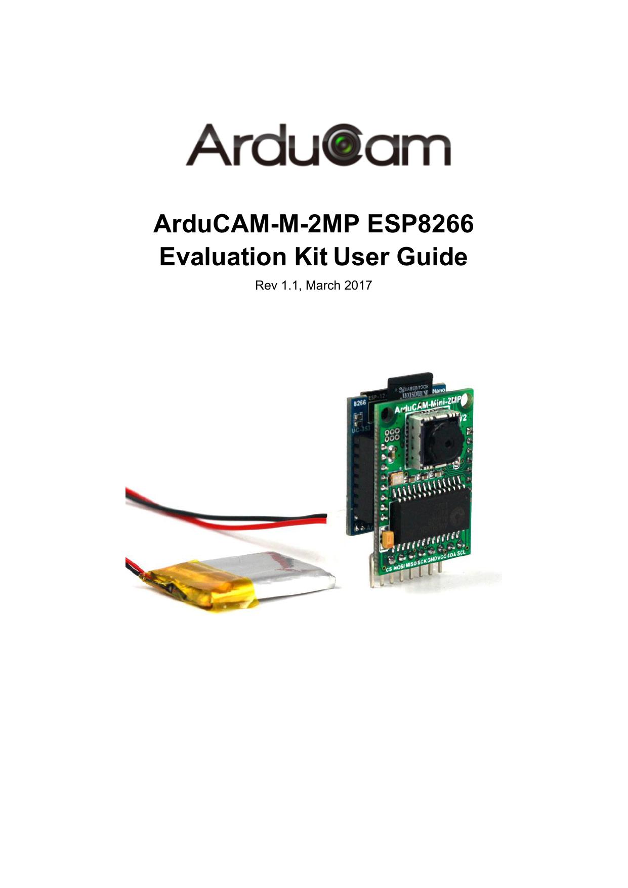 ArduCAM-M-2MP ESP8266 Evaluation Kit User Guide | manualzz com