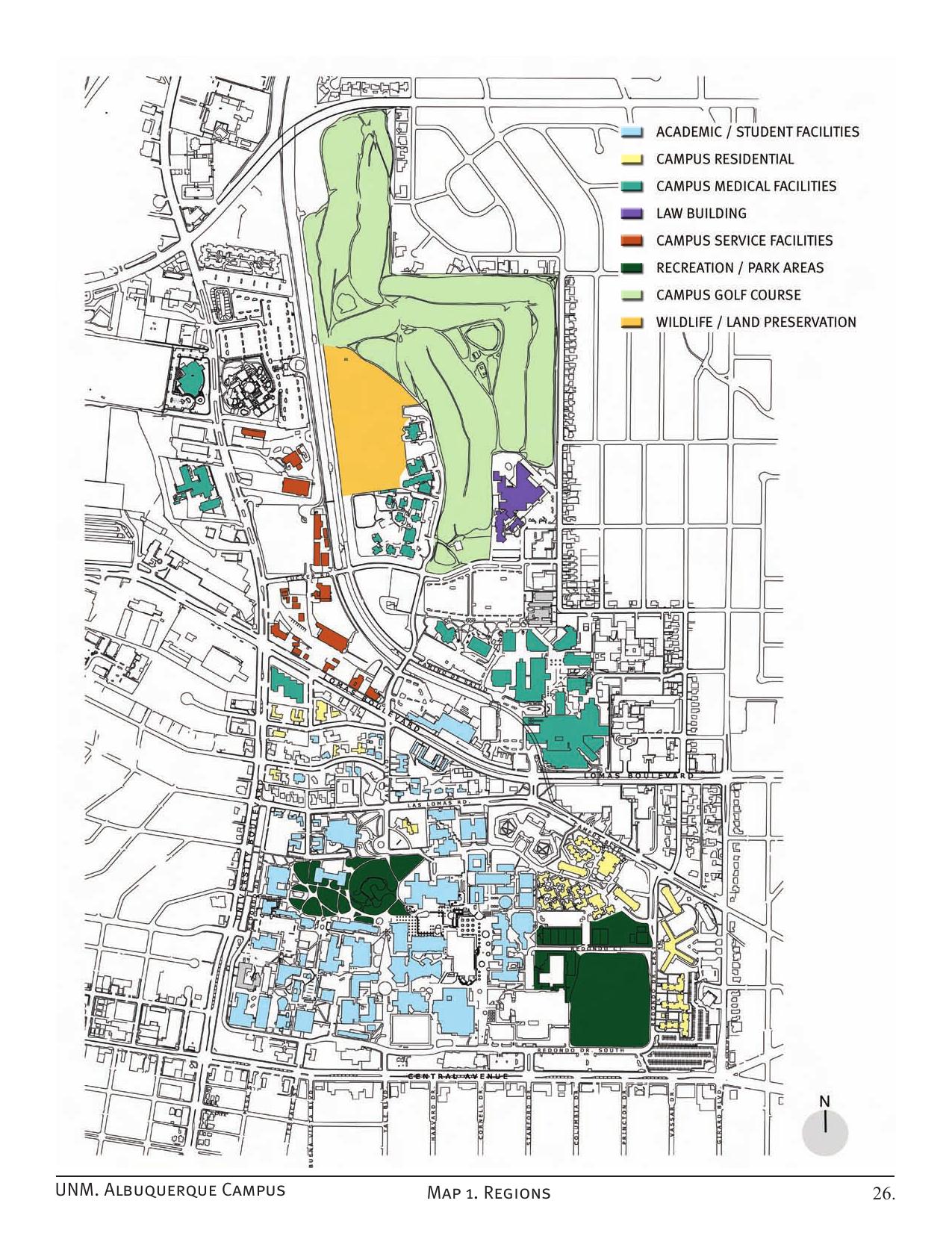 UNM. Albuquerque Campus Map 1. Regions 26. | manualzz.com