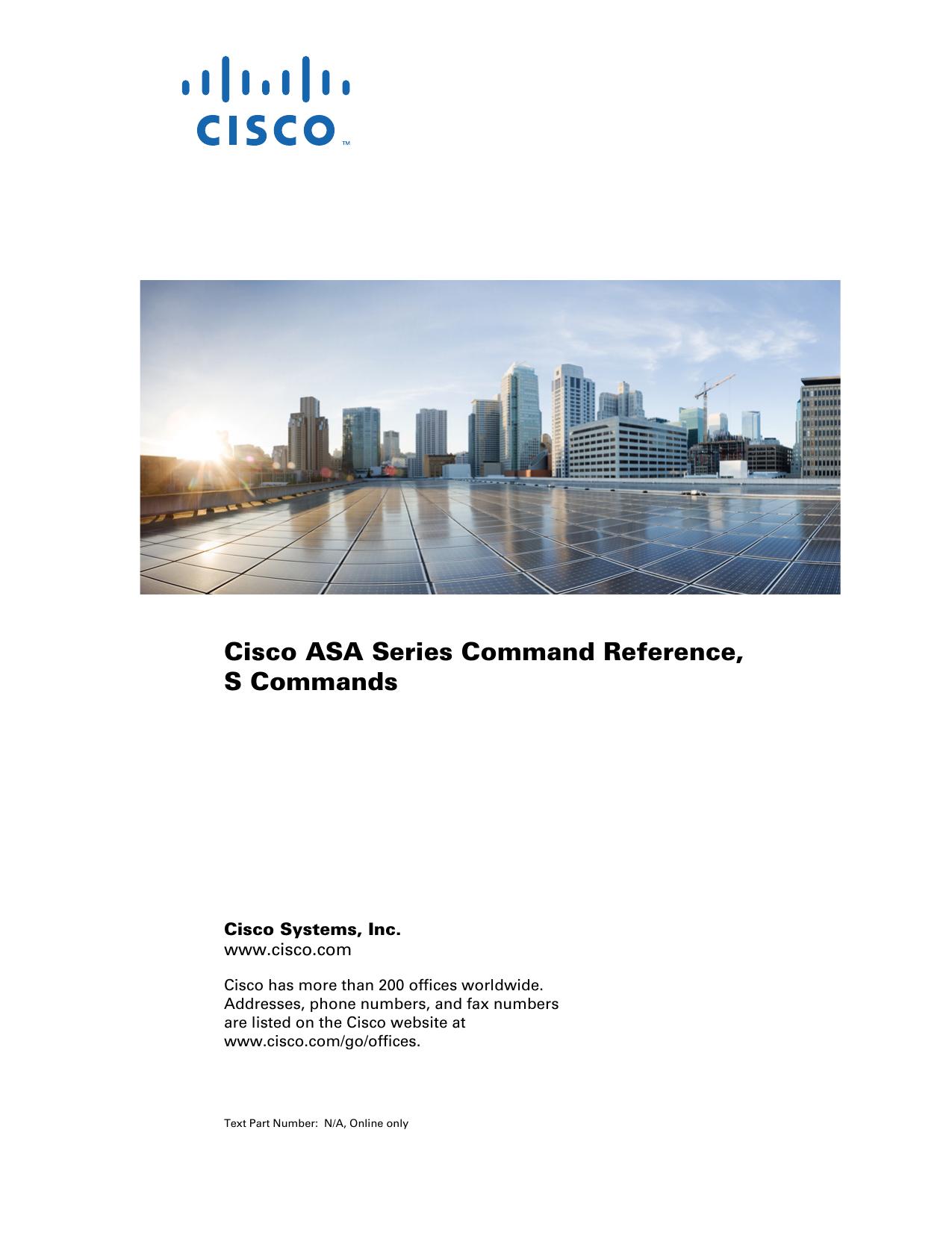 Cisco ASA Series Command Reference, S Commands | manualzz com