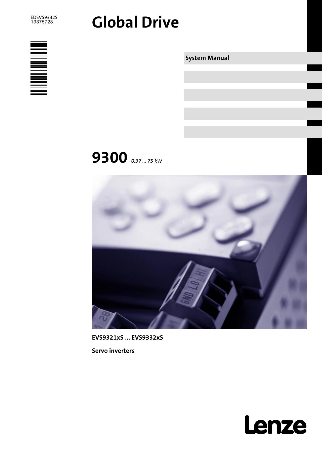 Lenze 9300 Servo Manual Inverter Drive Supermarket Wiring Diagrams