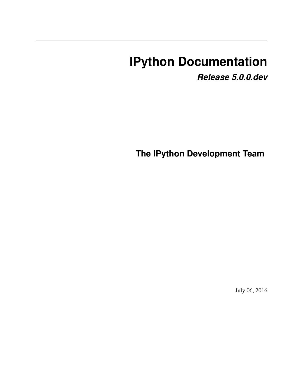 IPython Documentation | manualzz com