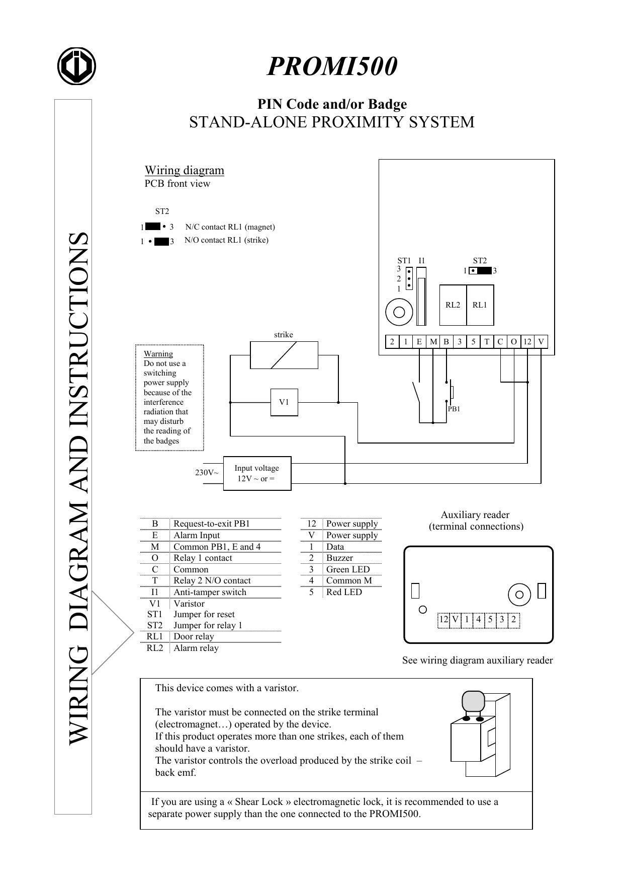 PROMI500 Manual | manualzz.com on