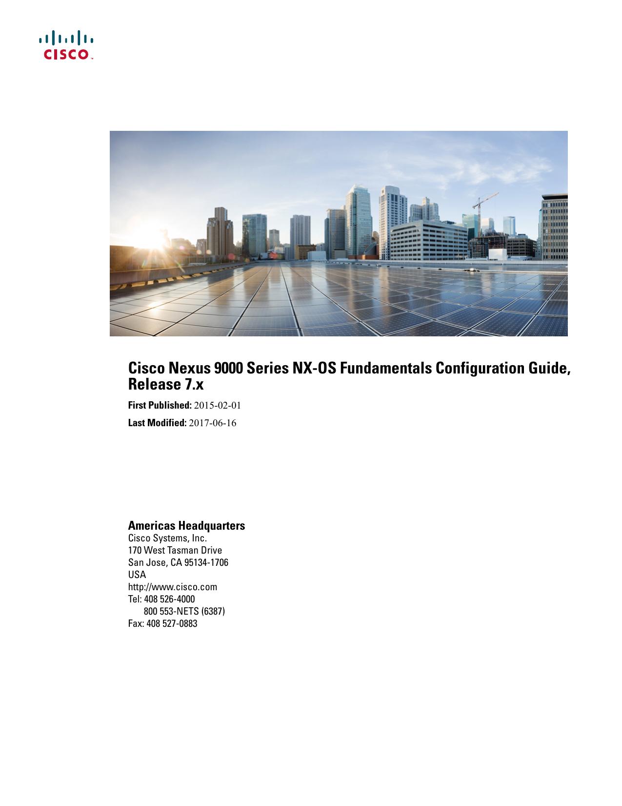 Cisco Nexus 9000 Series NX-OS Fundamentals Configuration