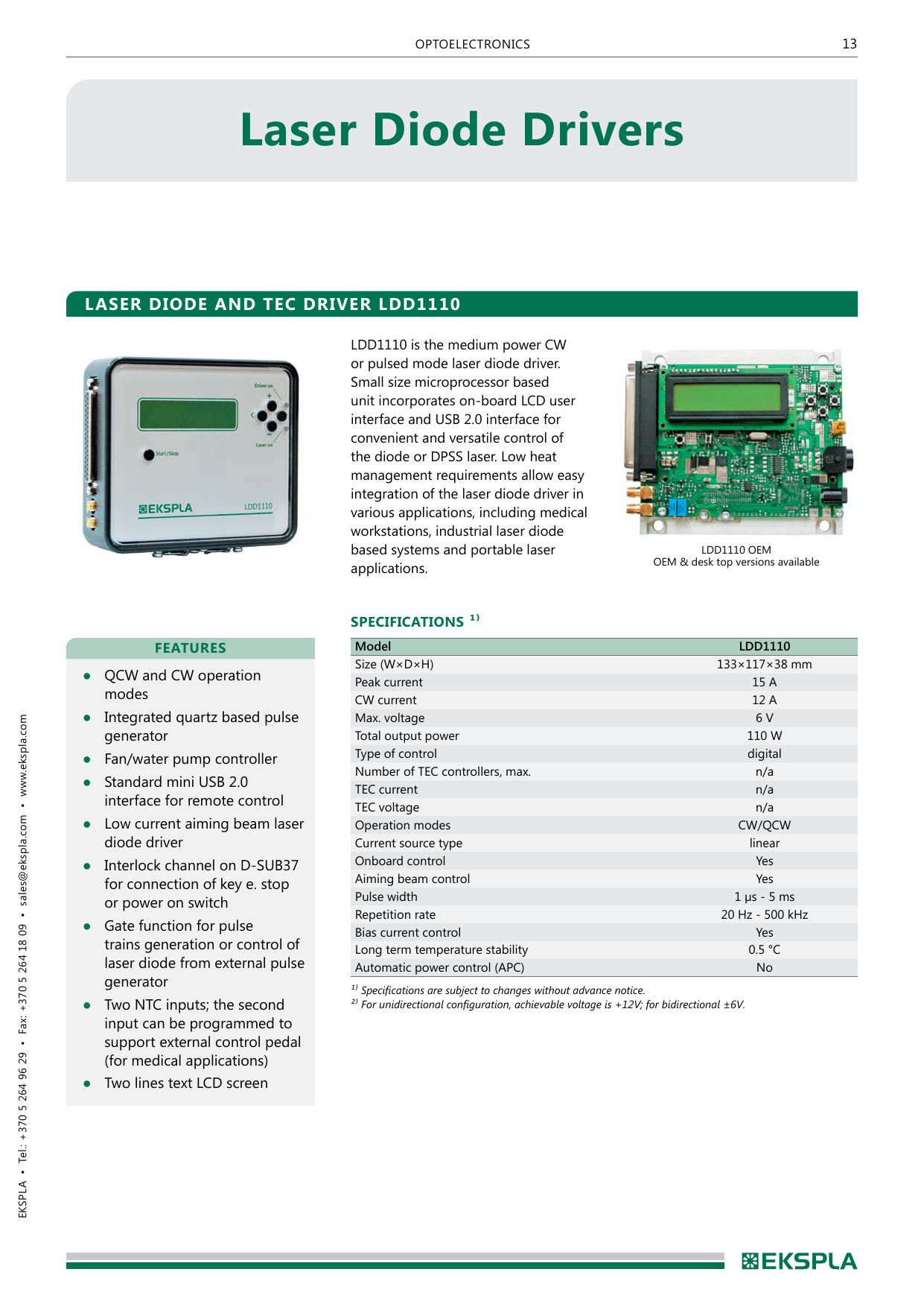 Laser diode drivers | manualzz com