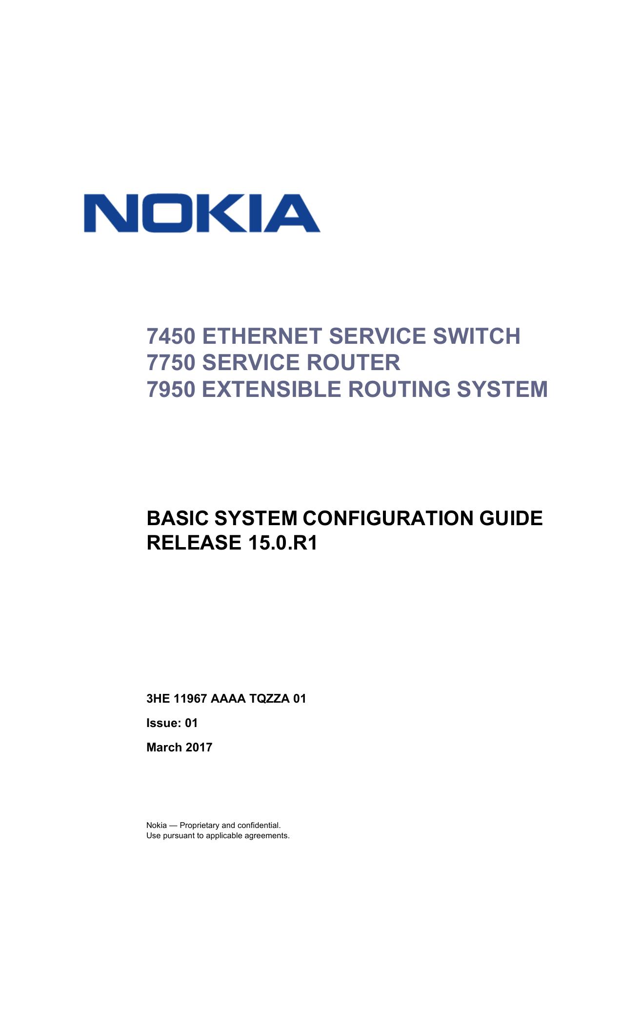 Basic System Configuration Guide R15 0 R1 - Alcatel | manualzz com