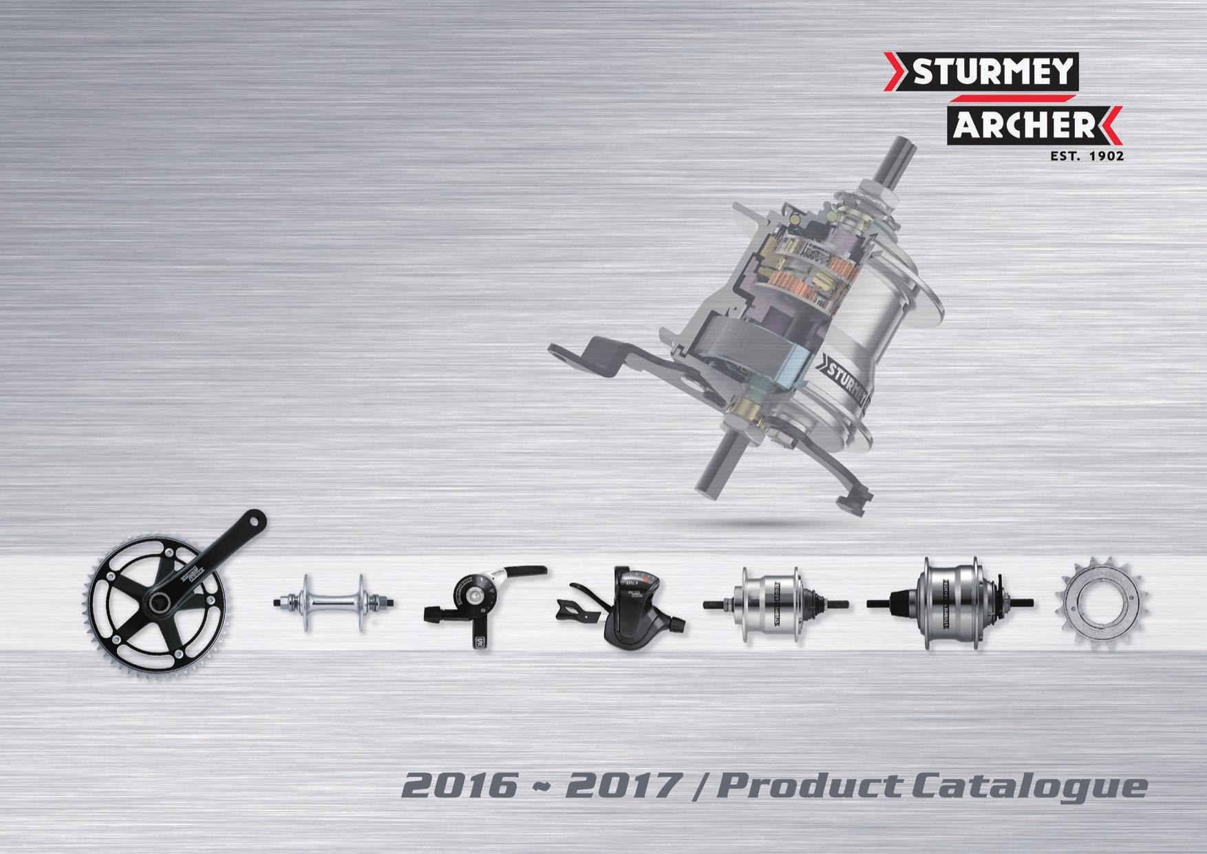 Sturmey Archer BLS81 Brake Lever Silver Right//Left Set Sturmey-Archer BLS81-S