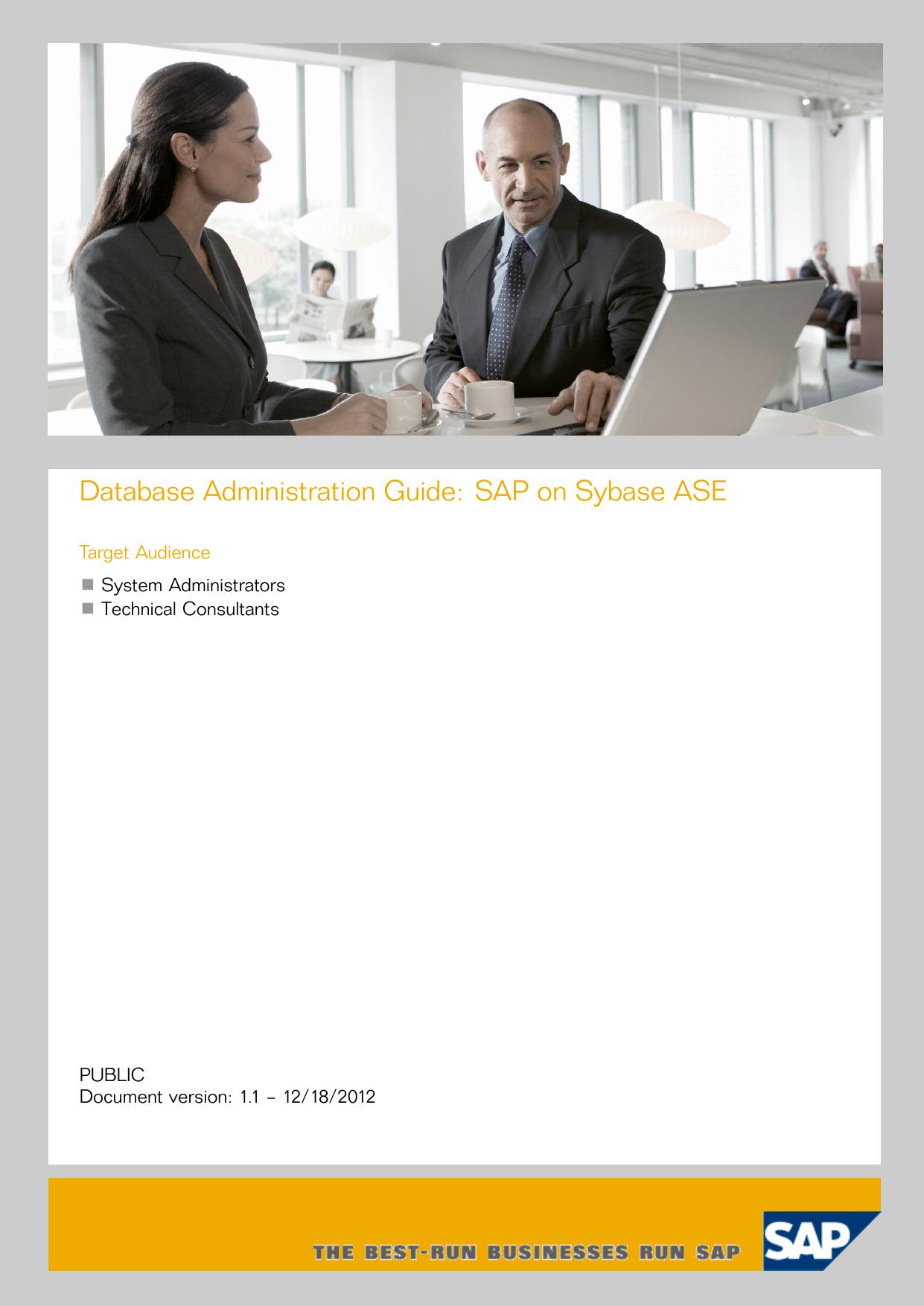 Database Administration Guide: SAP on Sybase ASE | manualzz com