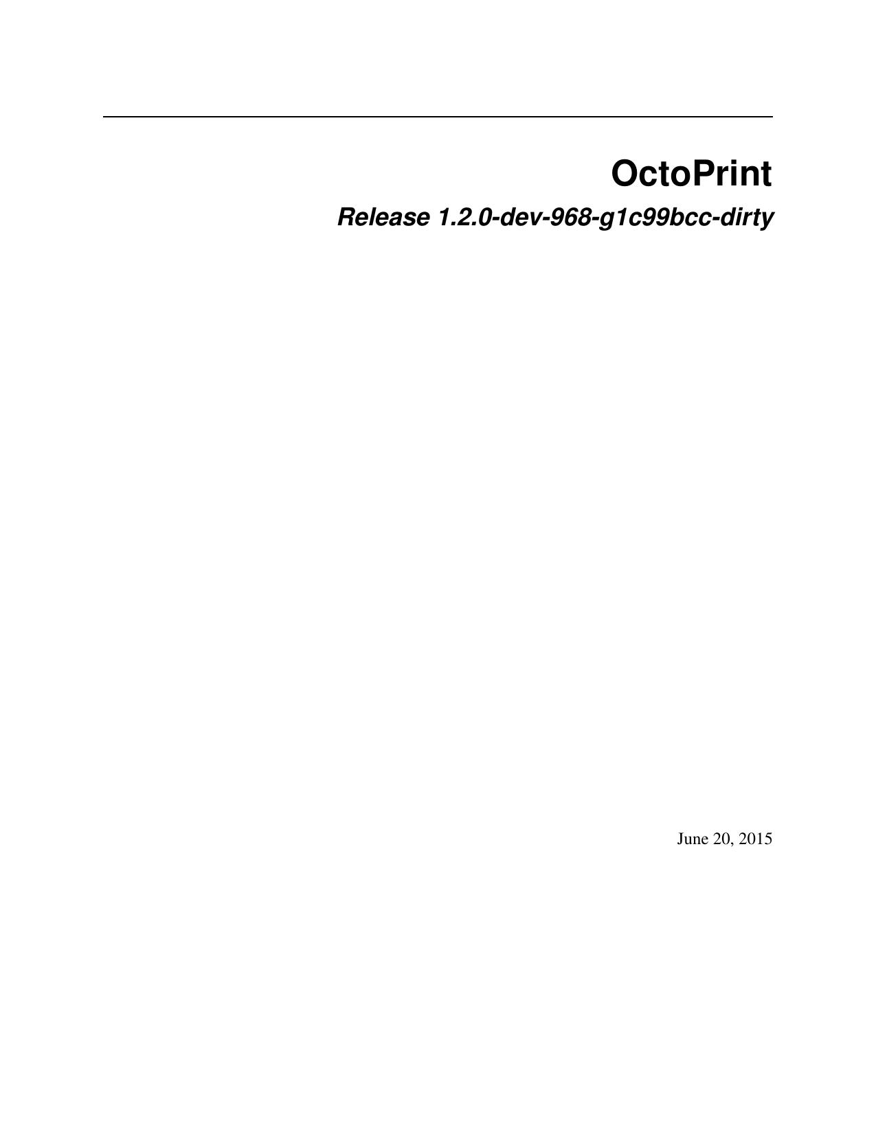 OctoPrint - Read the Docs | manualzz com