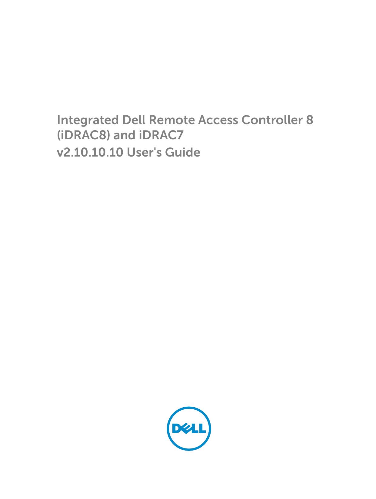 Integrated Dell Remote Access Controller 8 | manualzz com
