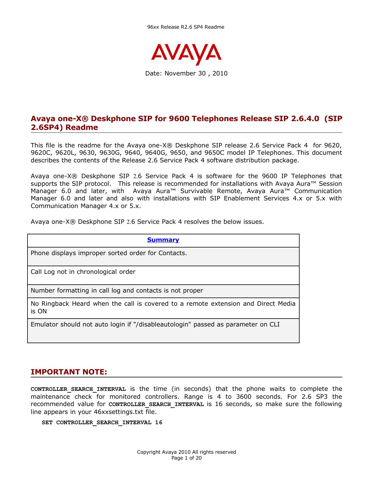 Avaya one-X® Deskphone SIP for 9600 | manualzz com