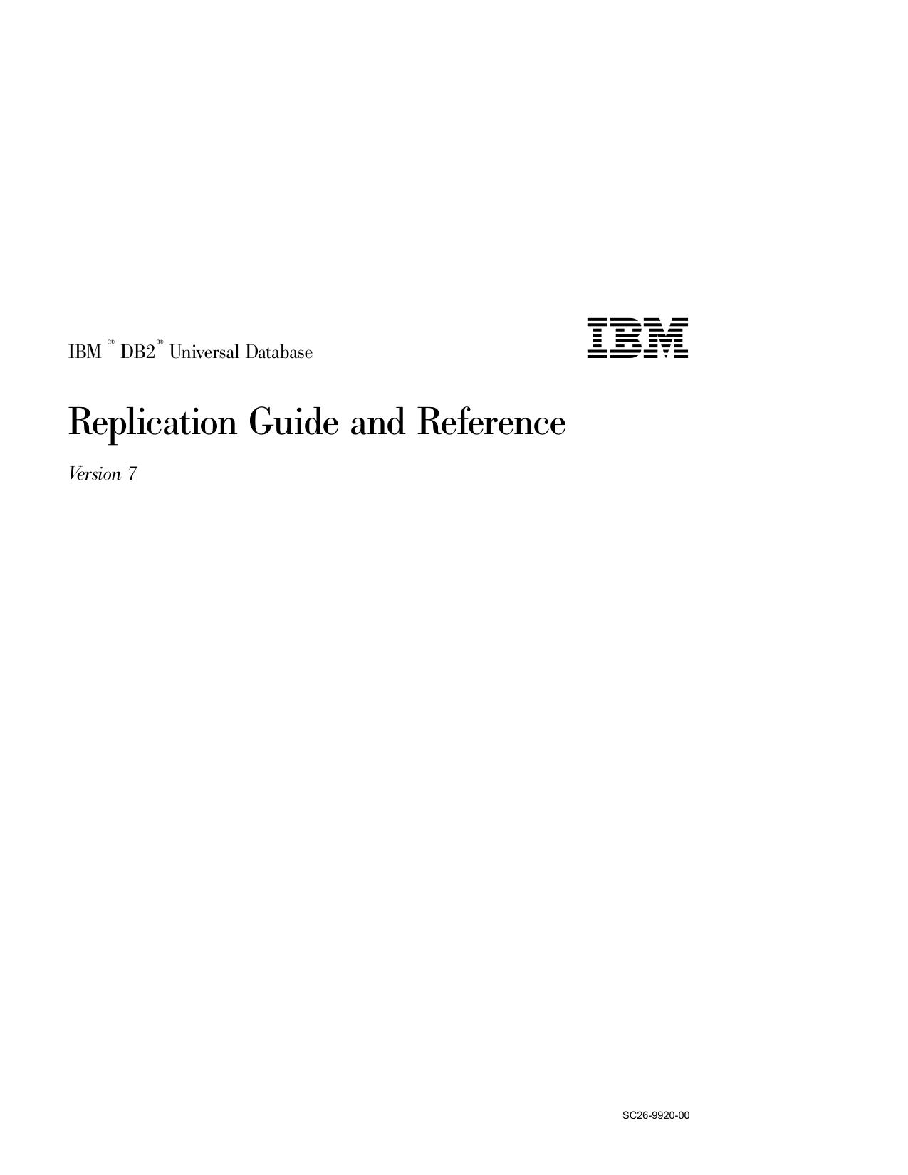 IBM DB2 Universal Database Replication Guide and | manualzz com