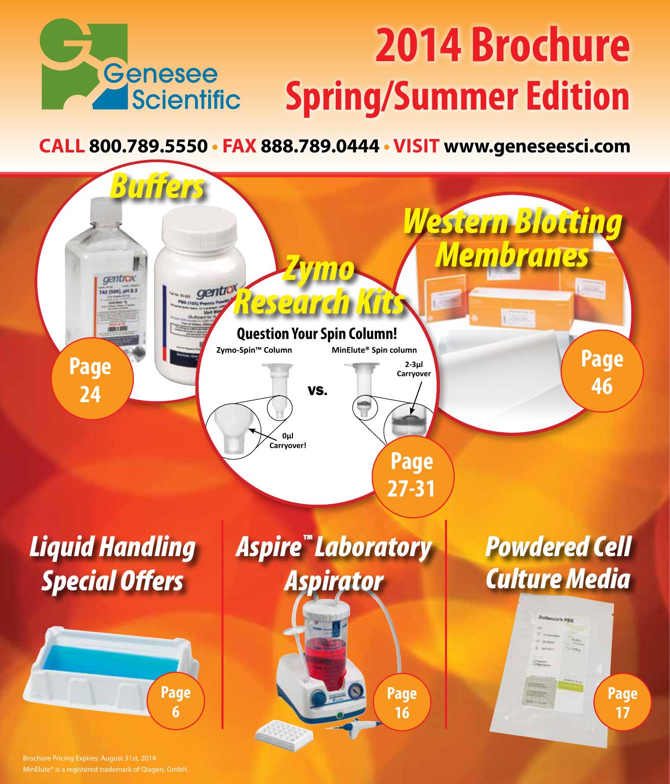 2014 Brochure Genesee Scientific | Manualzz