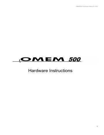 Omex 500 Technology Manualzz