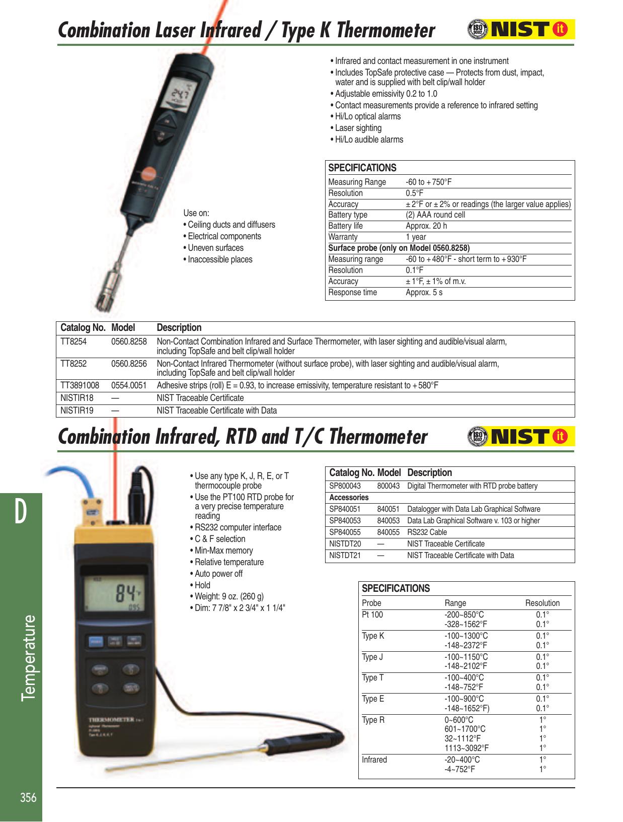 K Type Thermocouple Sensor Multimeter Temperature Probe Banana Plug