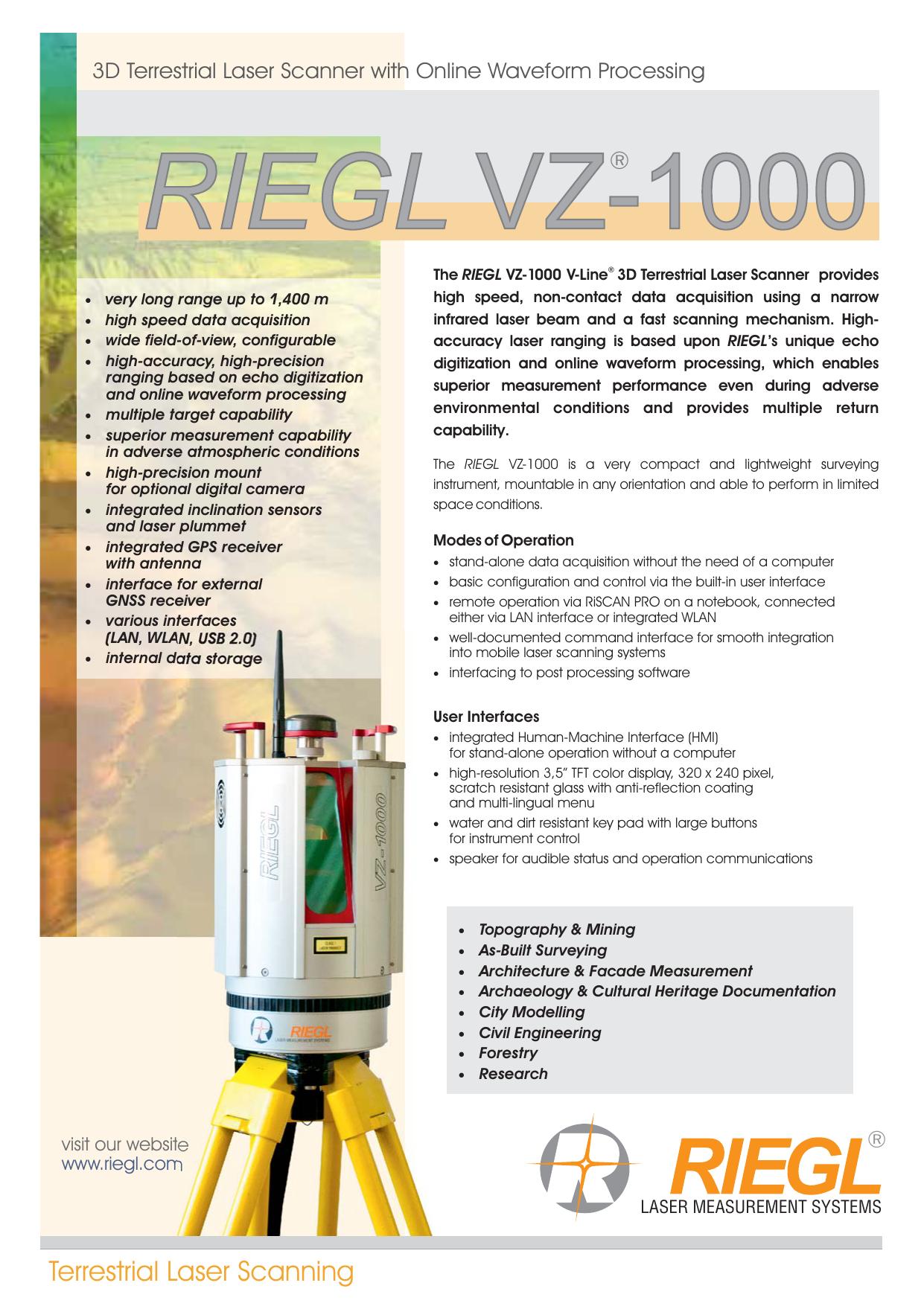 RIEGL VZ-1000 | manualzz com