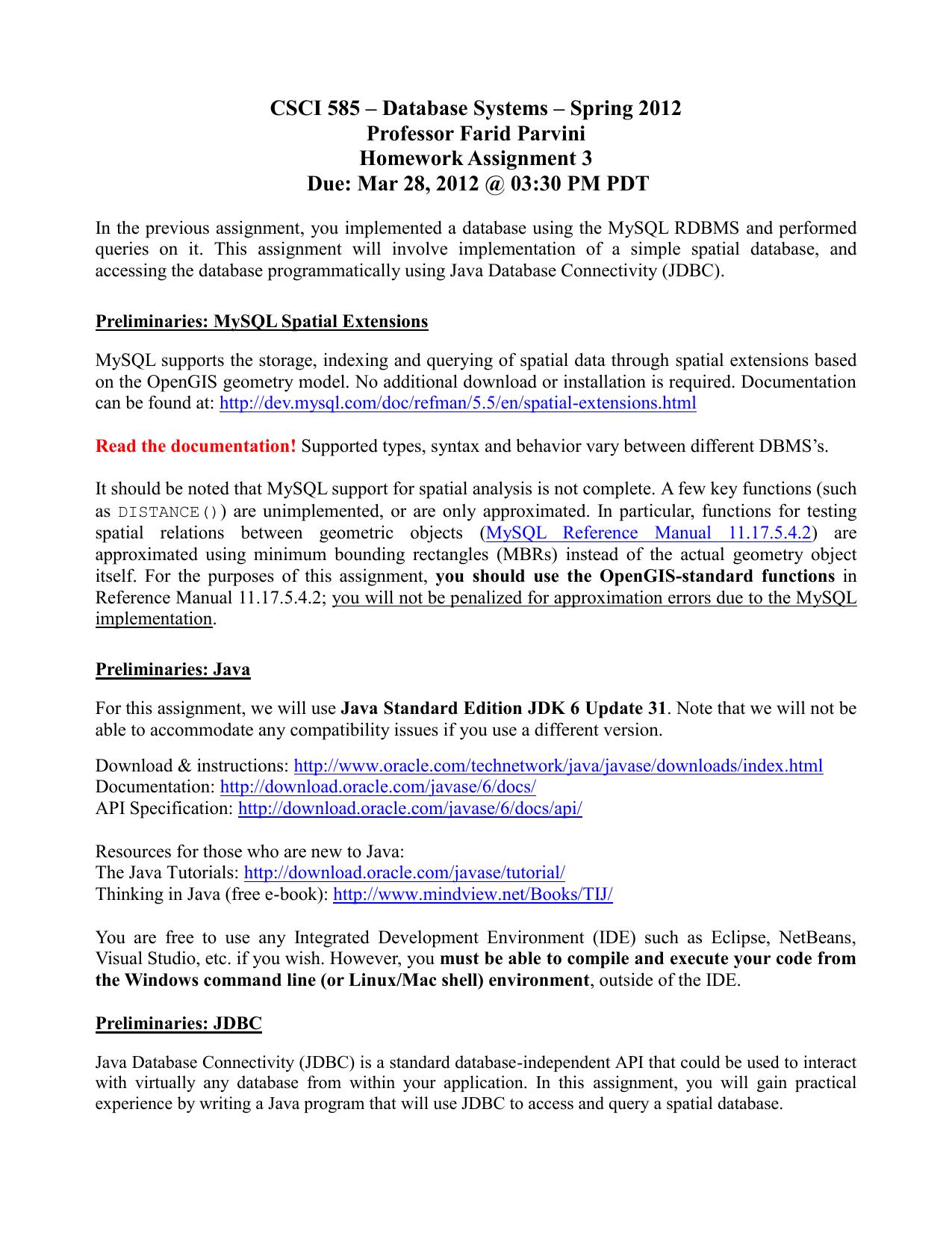 CSCI 585 – Database Systems – Spring 2012 Professor Farid | manualzz com