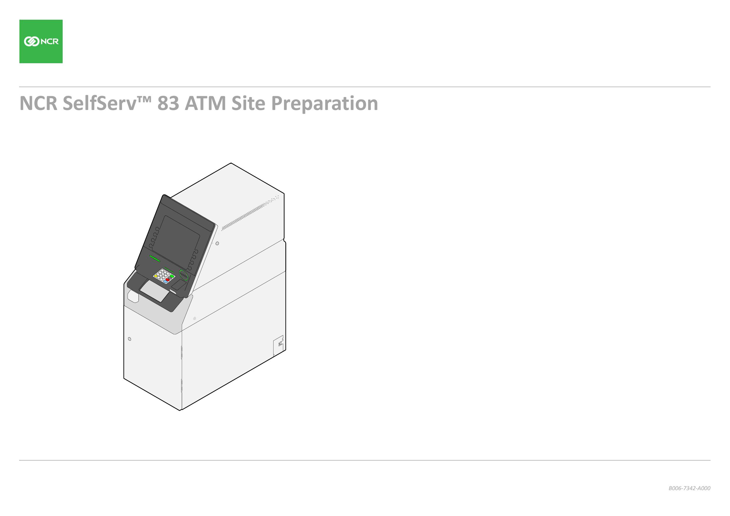 NCR SelfServ™ 83 ATM Site Preparation | manualzz com