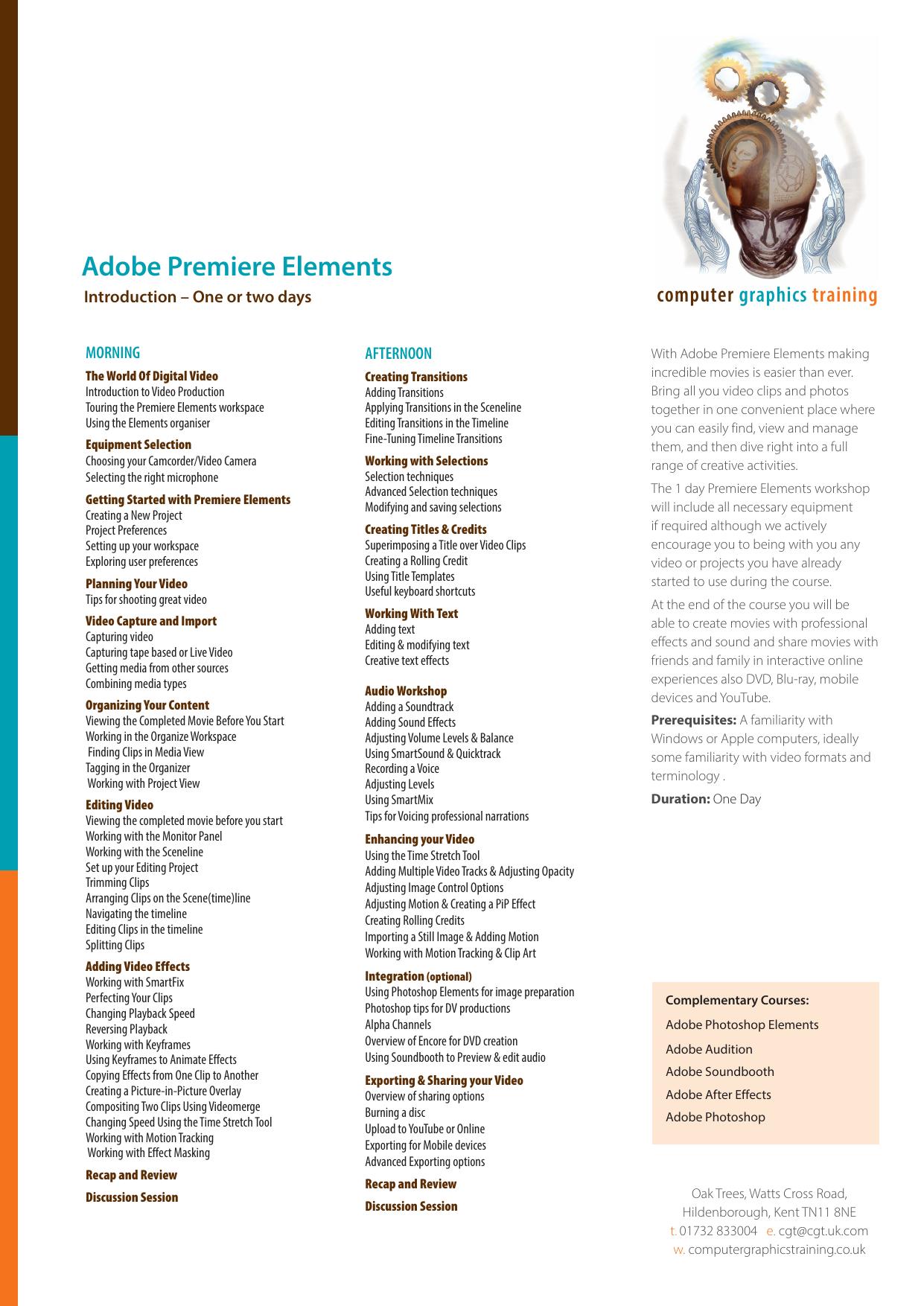 Adobe Premiere Elements - Computer Graphics Training