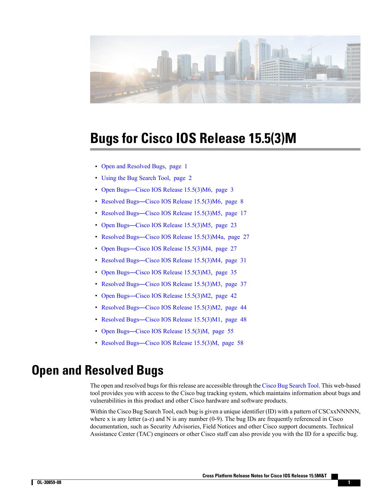 Bugs for Cisco IOS Release 15 5(3)M | manualzz com