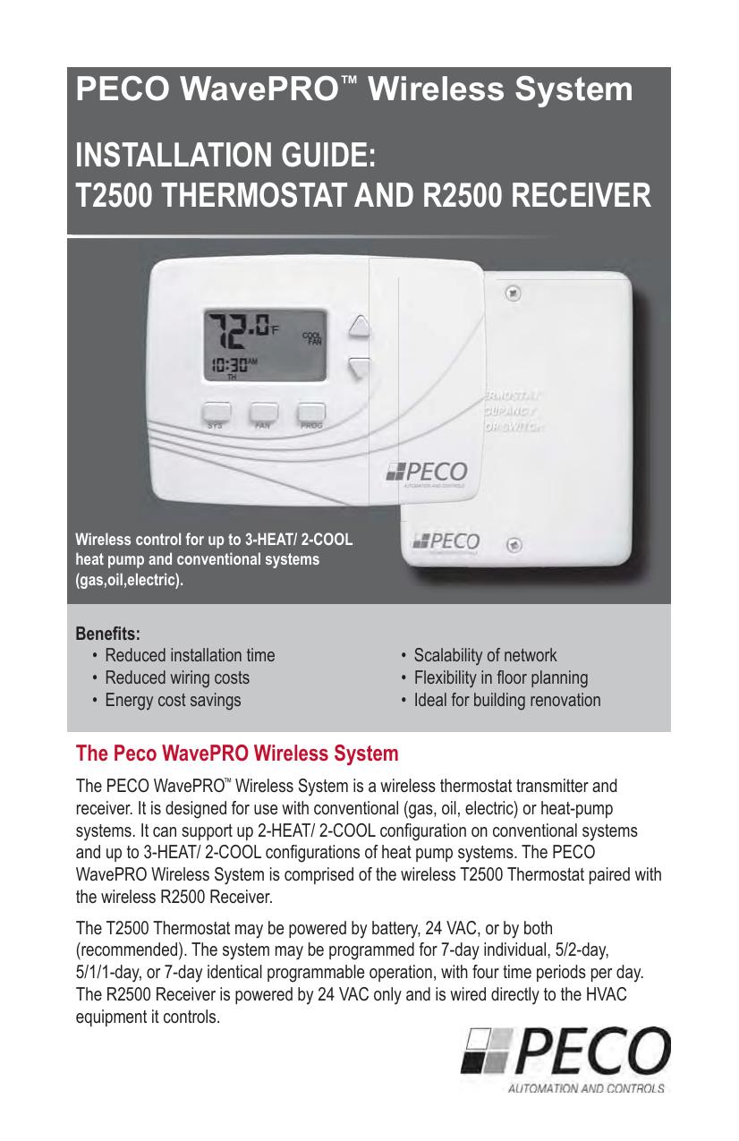 K2500 PECO WavePRO™ Wireless System Installation