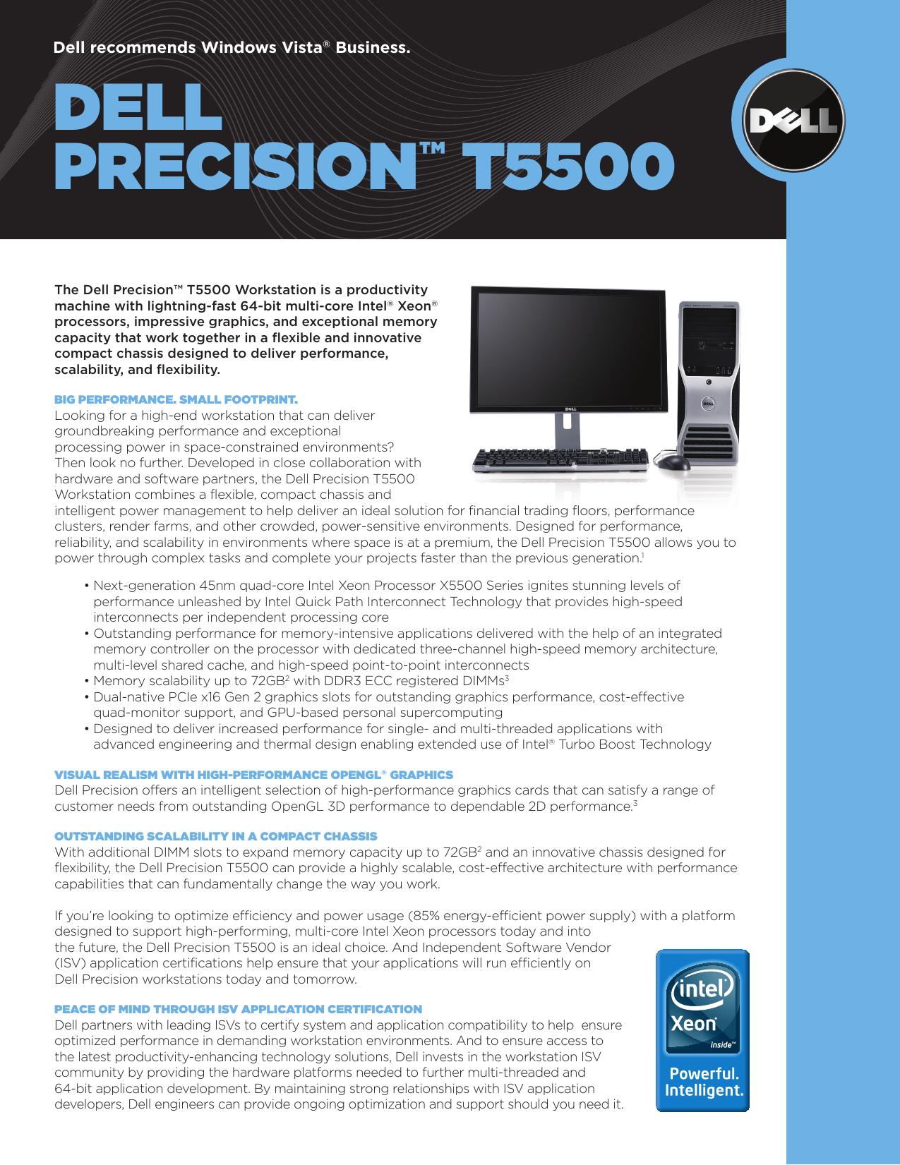 DELL prEcision™ t5500   manualzz com