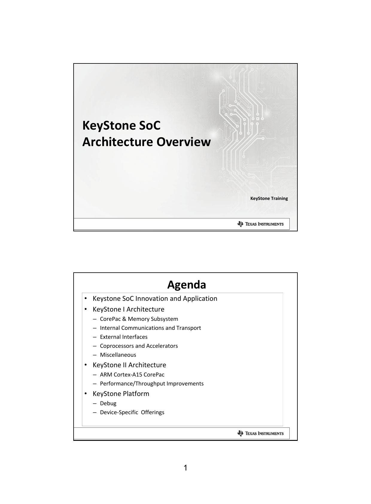 KeyStone SoC Architecture Overview | manualzz com