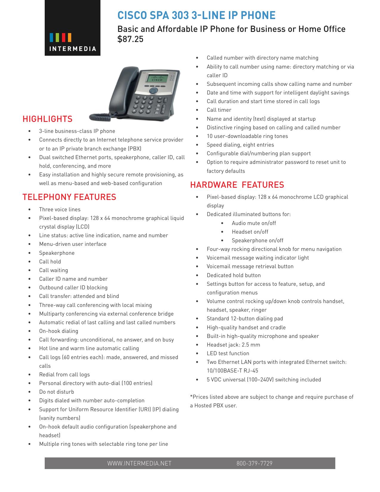 cisco spa 303 3-line ip phone | manualzz com