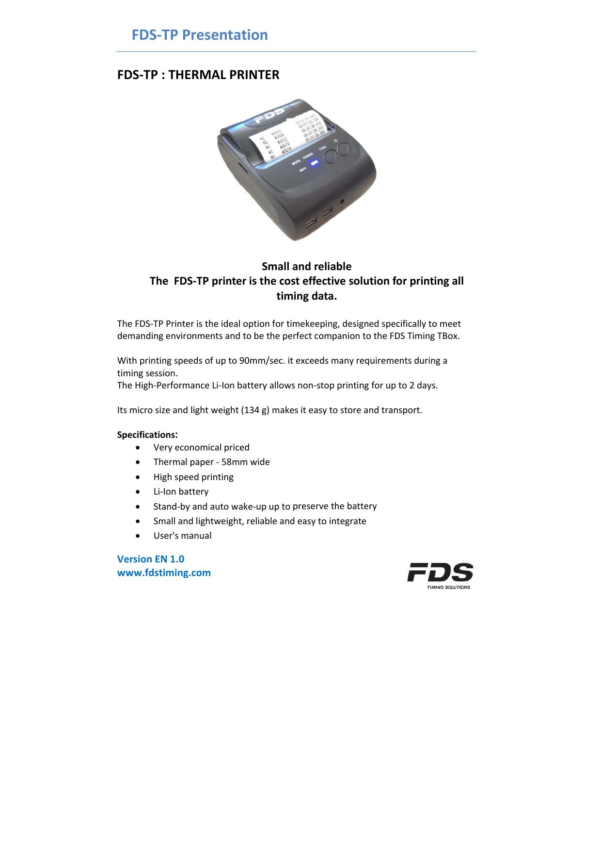 FDS-TP Presentation | manualzz com