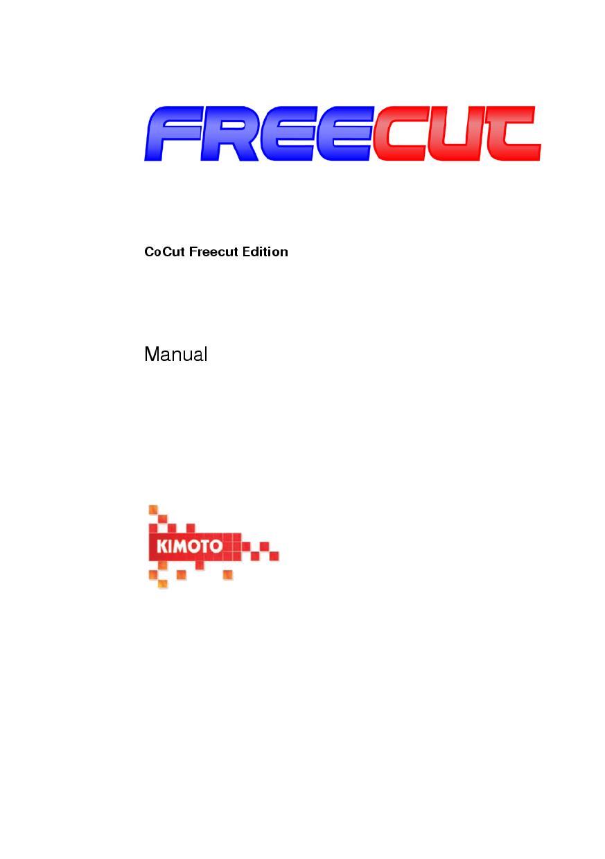 CoCut Freecut Edition manual   manualzz com