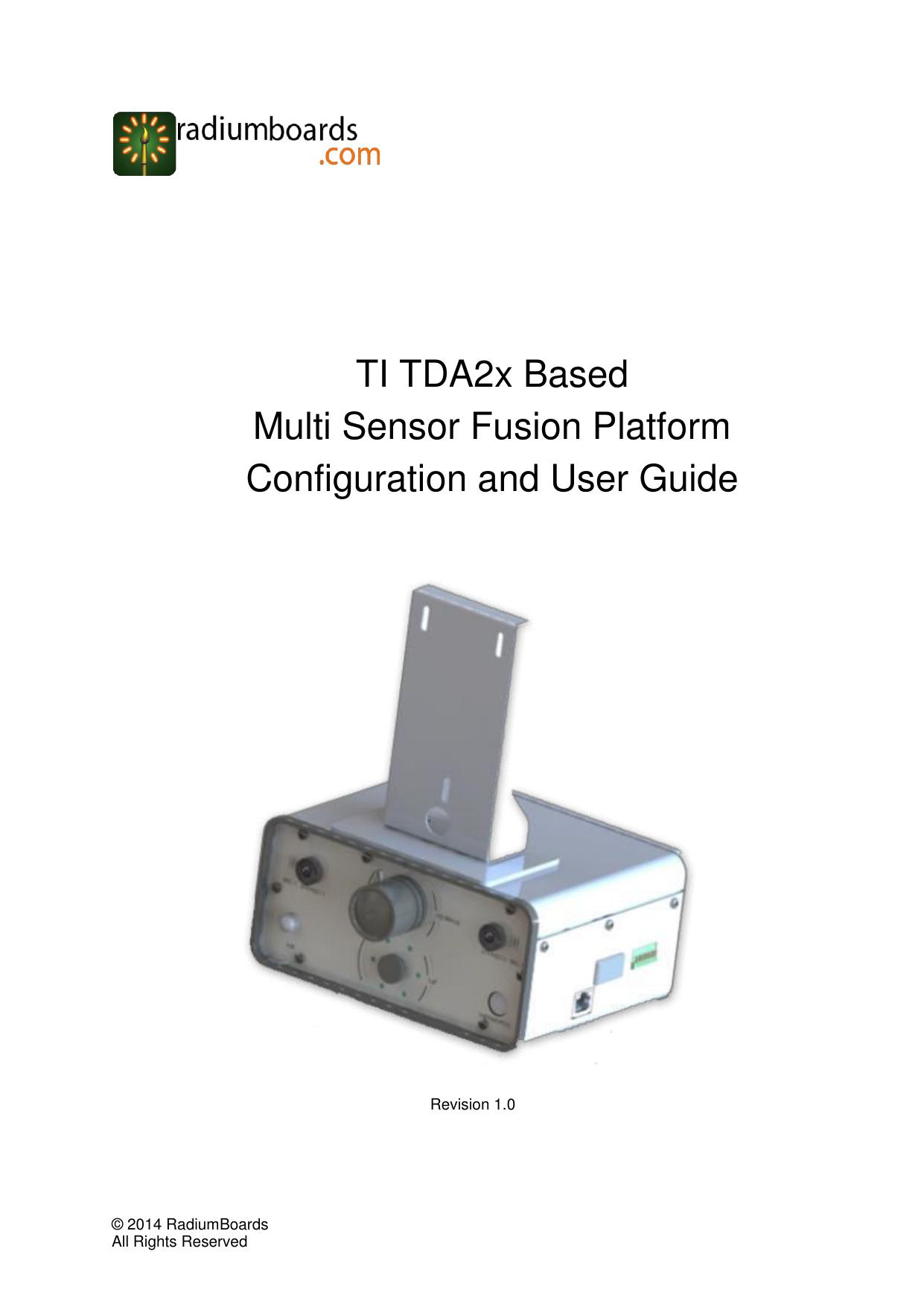 TI TDA2x Based Multi Sensor Fusion Platform Configuration