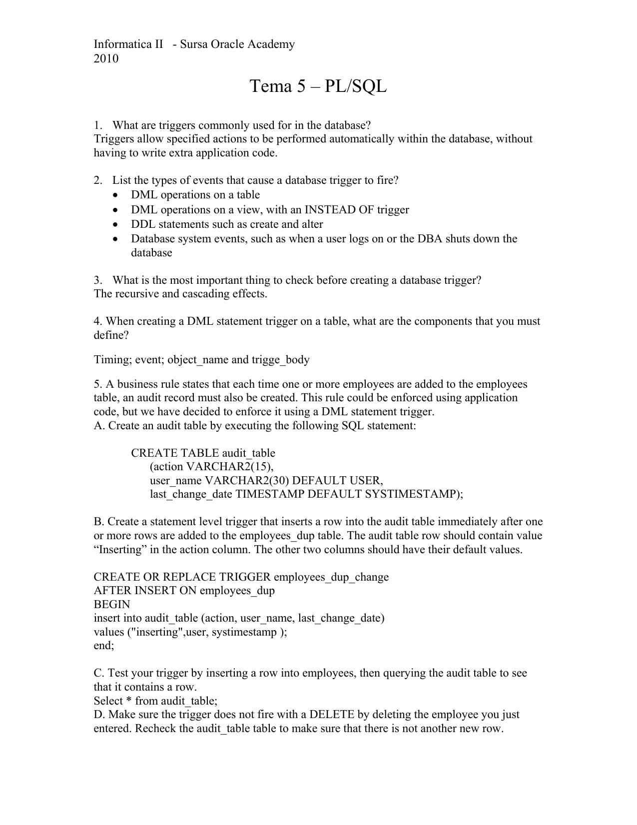 Tema 5 – PL/SQL - Cadre Didactice   manualzz com