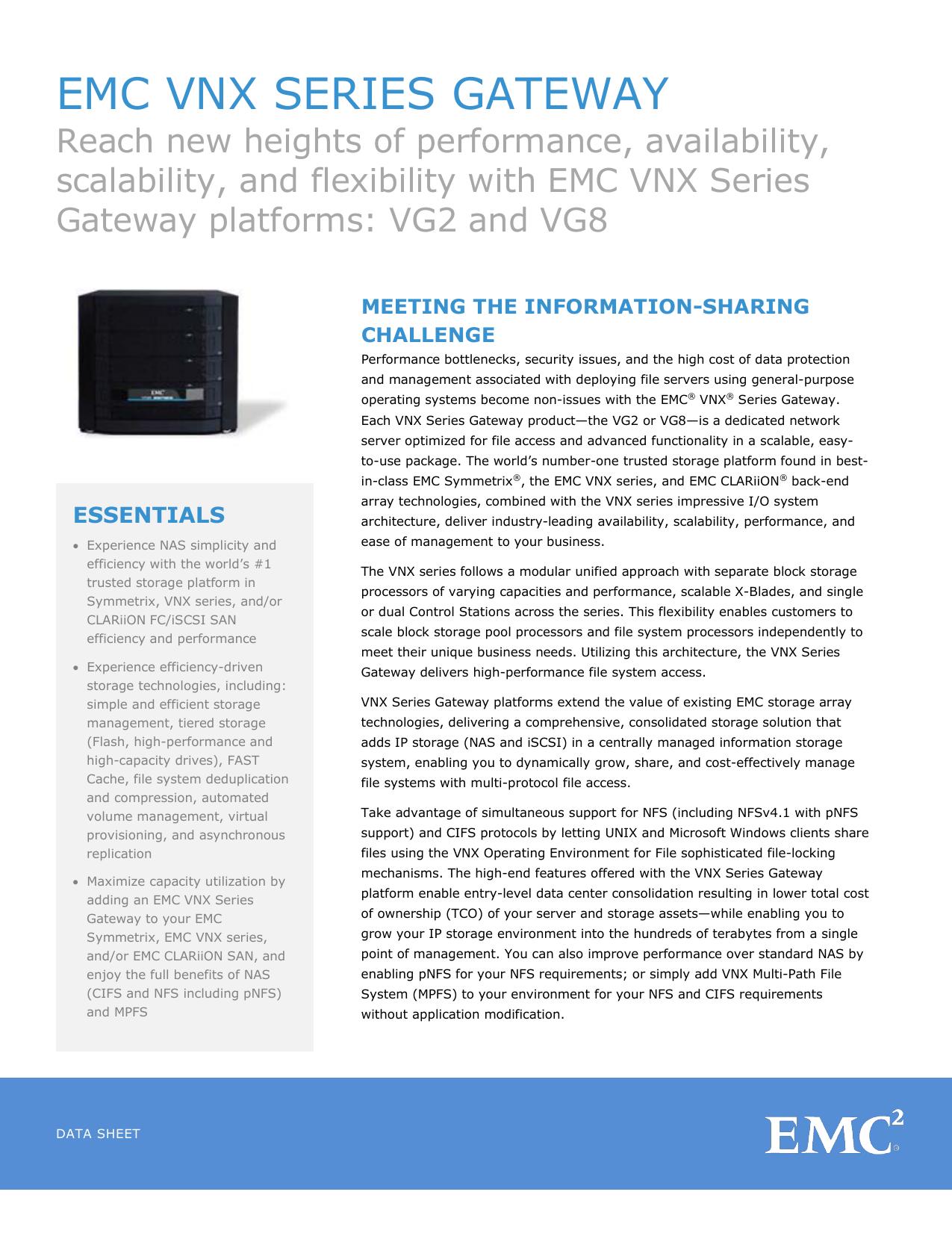 C1119 13 EMC VNX Series Gateway | manualzz com