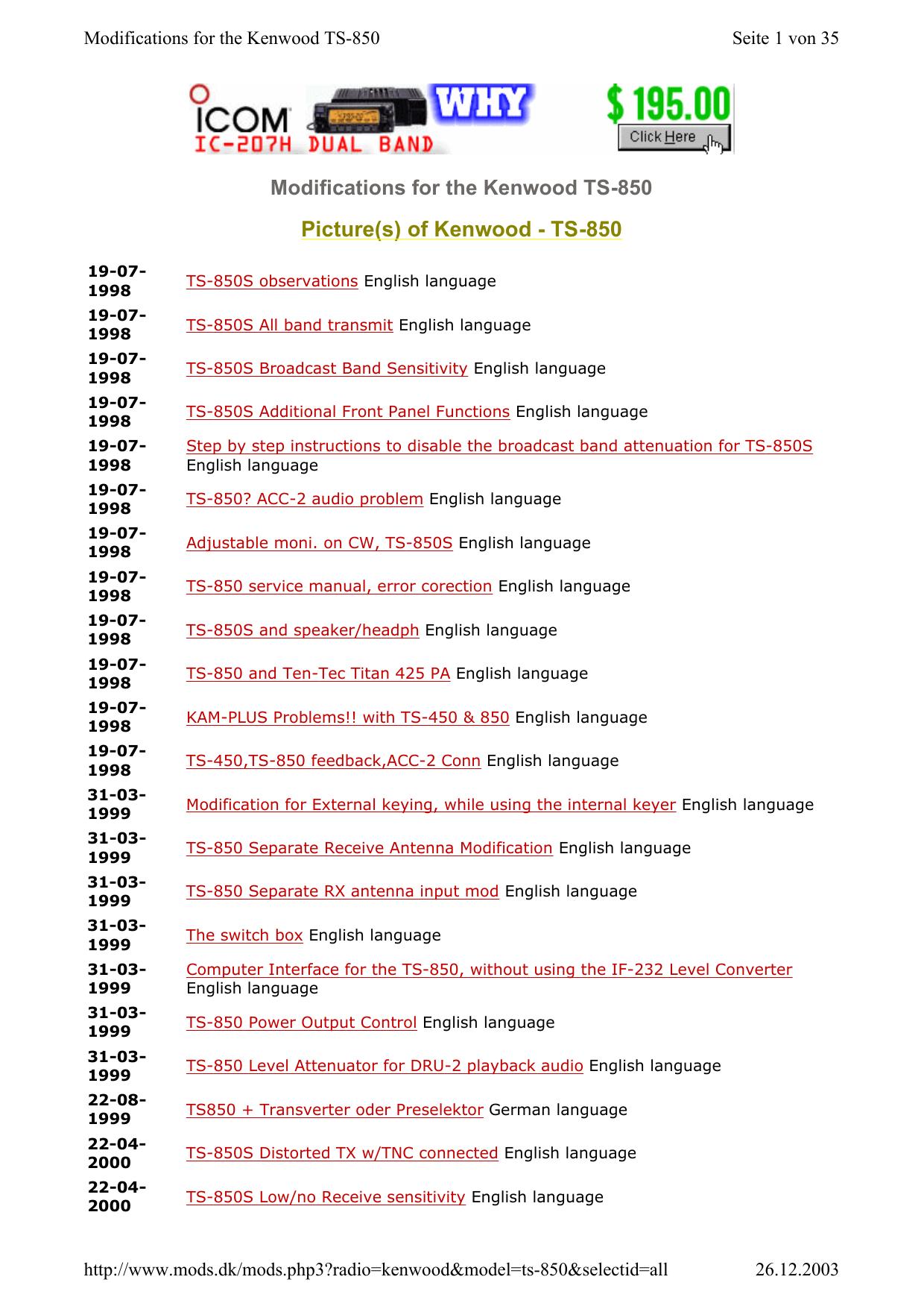 of Kenwood - TS-850 | manualzz com