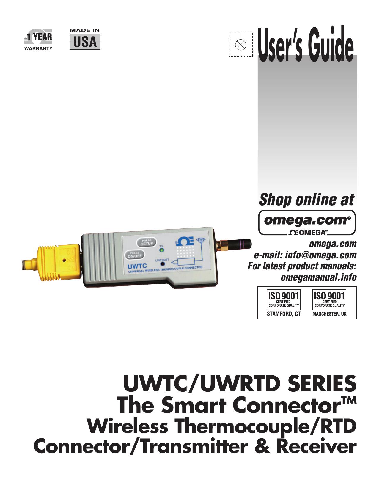 Wireless Thermocouple/RTD - Manualzz