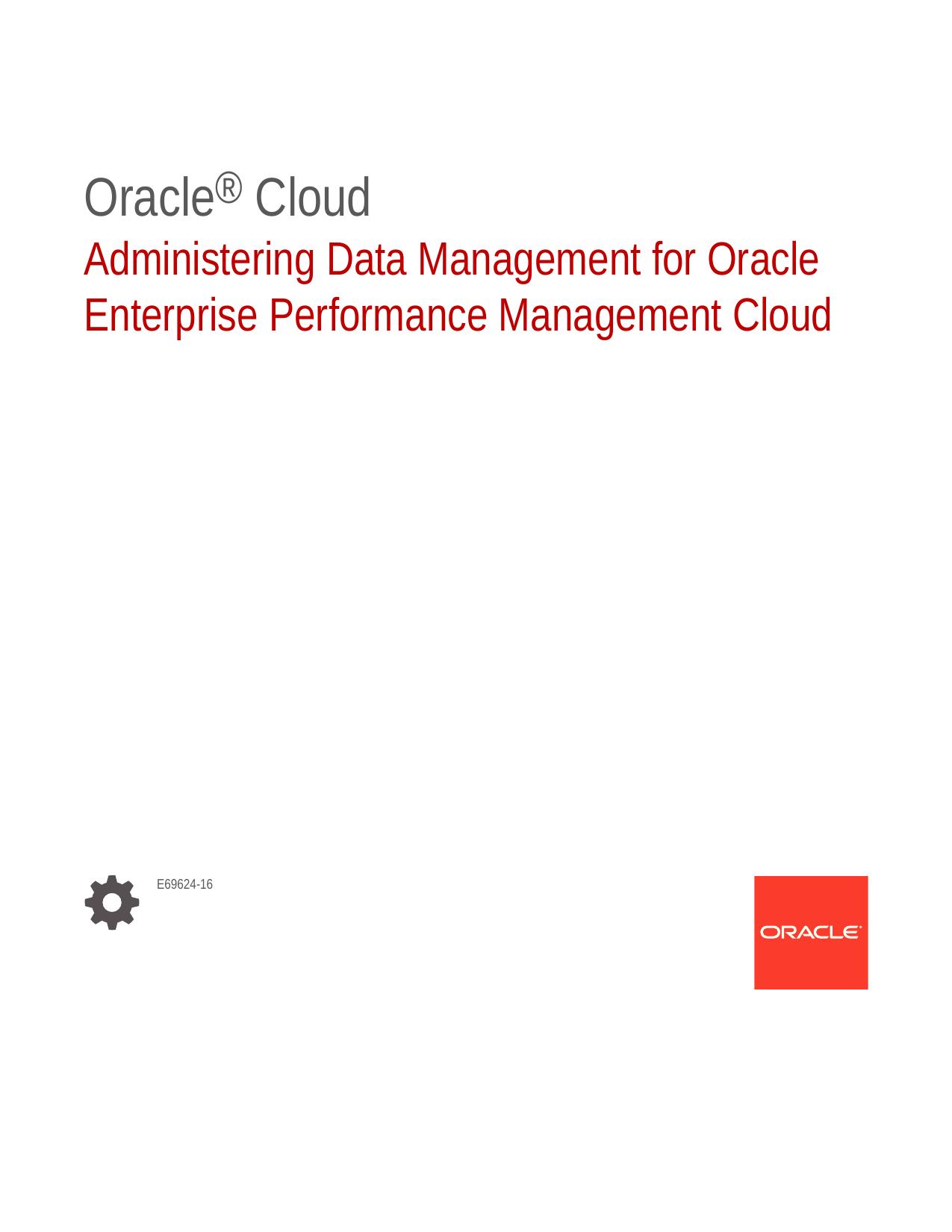 Administering Data Management for Oracle Enterprise