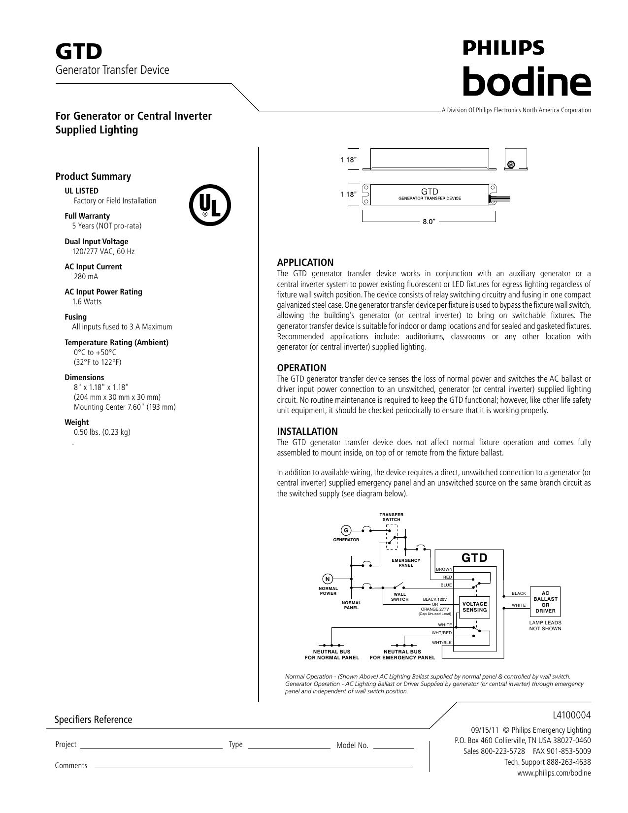 Generator Transfer Device   manualzz.com on