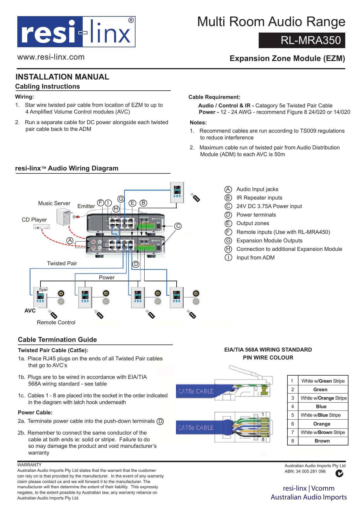 Rl Mra350 Instal Manualindd Tia 568a Cat5e Jack Wiring