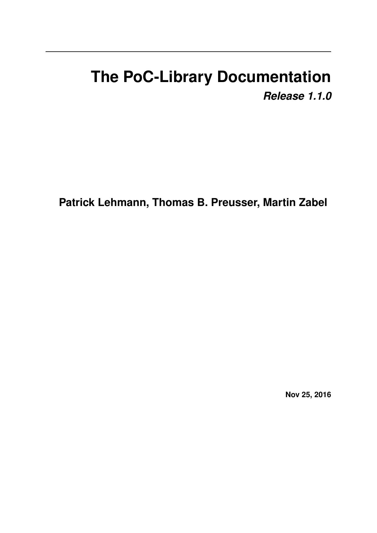 The PoC-Library Documentation   manualzz com
